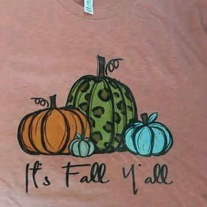 New Bella Canvas It's Fall Ya'll Shirt Large